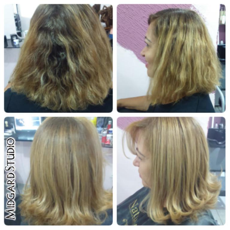 Botox capilar para Loiras  cabeleireiro(a) maquiador(a) designer de sobrancelhas