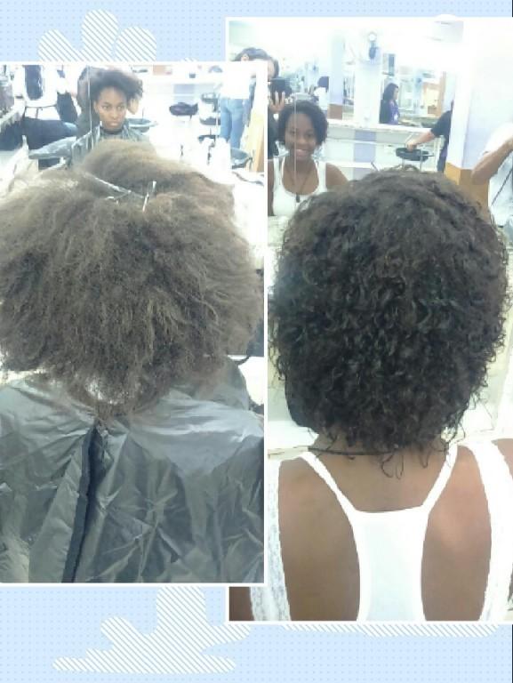 Permanente afro  Foi um sucesso u.u manicure e pedicure estudante (cabeleireiro)