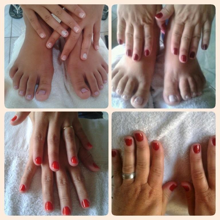 Unhas do fim de semana u.u  manicure e pedicure estudante (cabeleireiro)