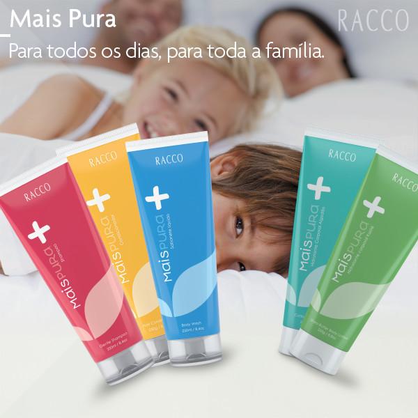 Racco Copacabana Linha mais pura shampoo, condicionador, hidratantes, sabonete liquido distribuidor(a) consultor(a) revendedor(a)