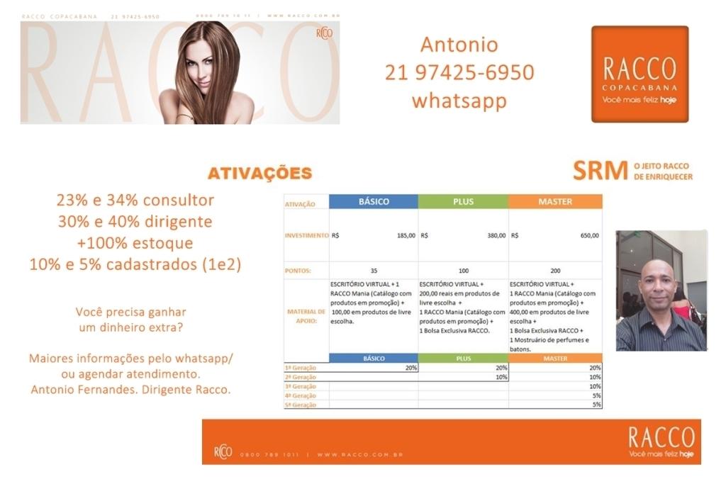 Racco - Plano de Negócio. distribuidor(a) consultor(a) revendedor(a)