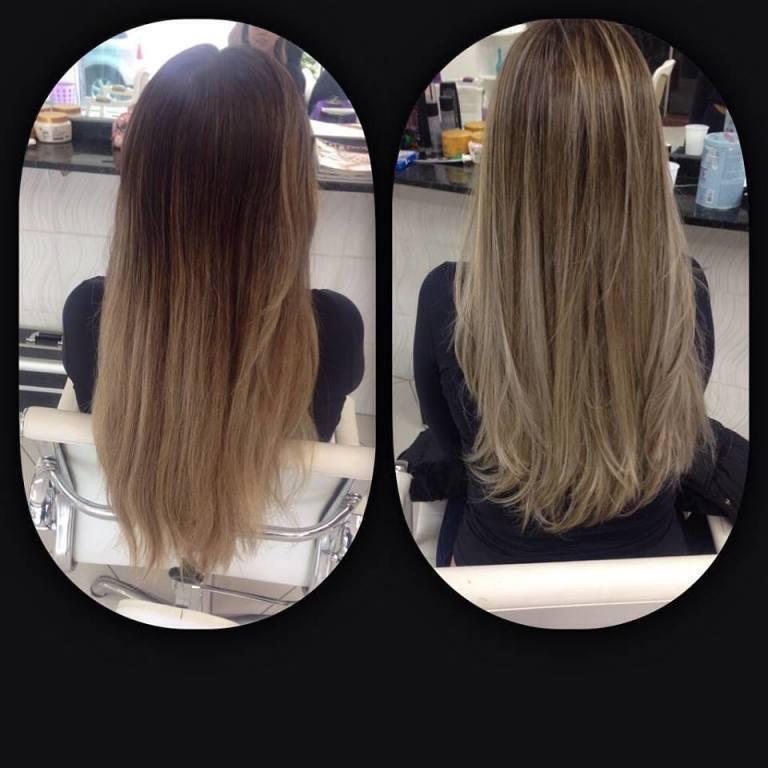 correção de cor, como ombré hair .  auxiliar cabeleireiro(a)