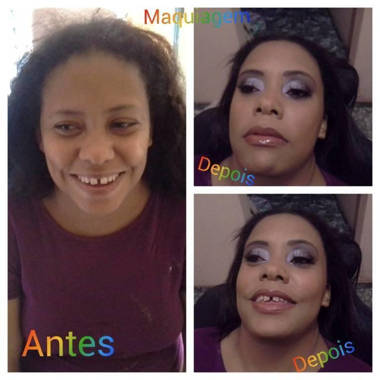 MAQUIAGEM ANTES E DEPOIS cabeleireiro(a) maquiador(a) designer de sobrancelhas depilador(a)