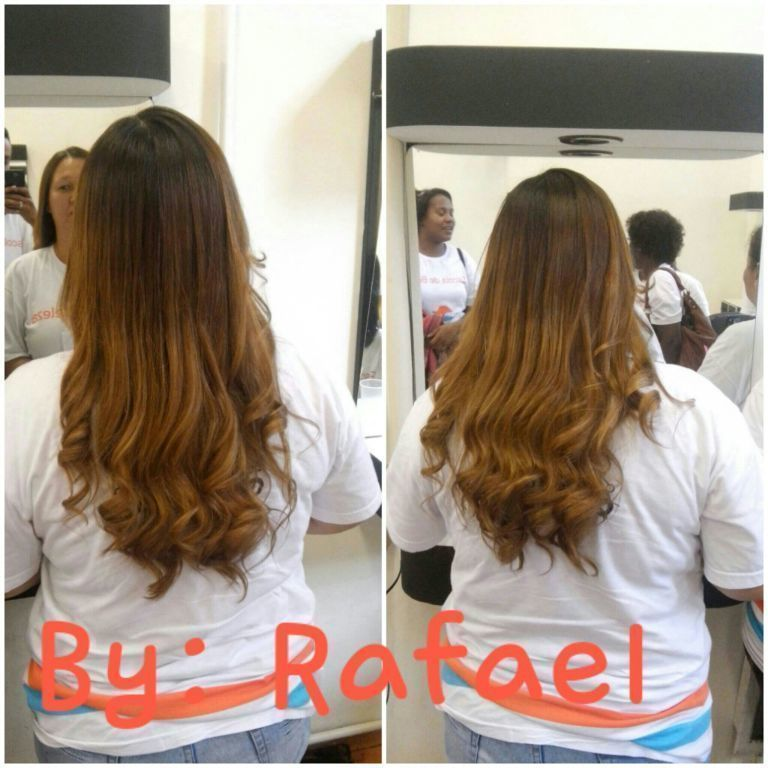 Escova e Chapinha cabelo auxiliar cabeleireiro(a)