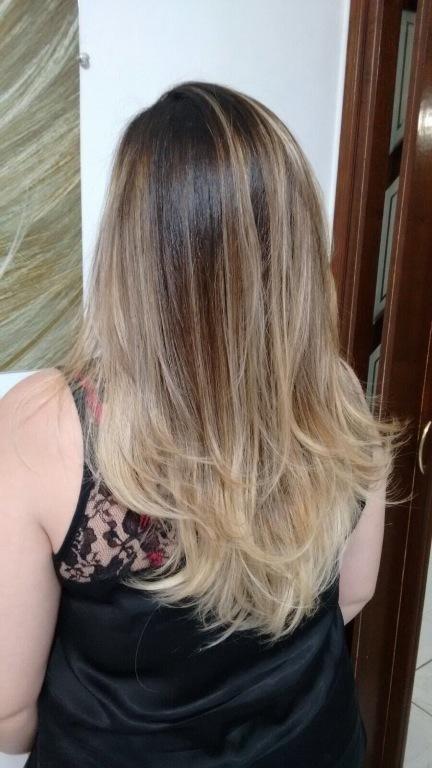 Clareamento num cabelo com coloração . Integro e saudável #loirodourado #lourodossonhos  stylist / visagista