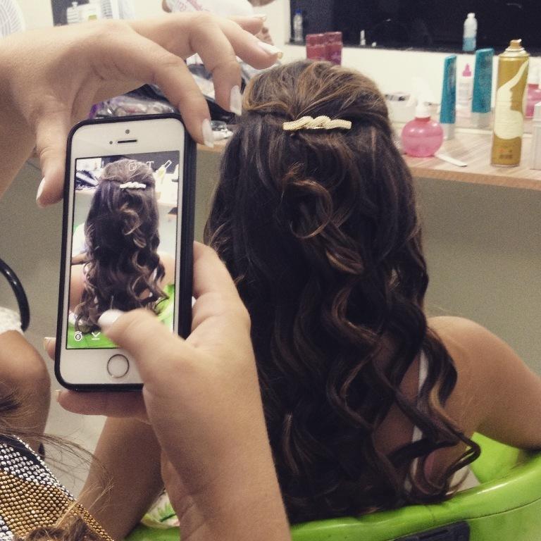 #penteado #formanda cabeleireiro(a)