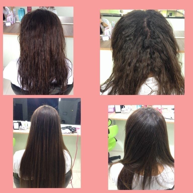 Antes & Depois ! Progressiva ! 👏 #progressiva  Obs: footo do depois so secado com o  secador !  Cliente livre de prancha 👏 cabeleireiro(a)