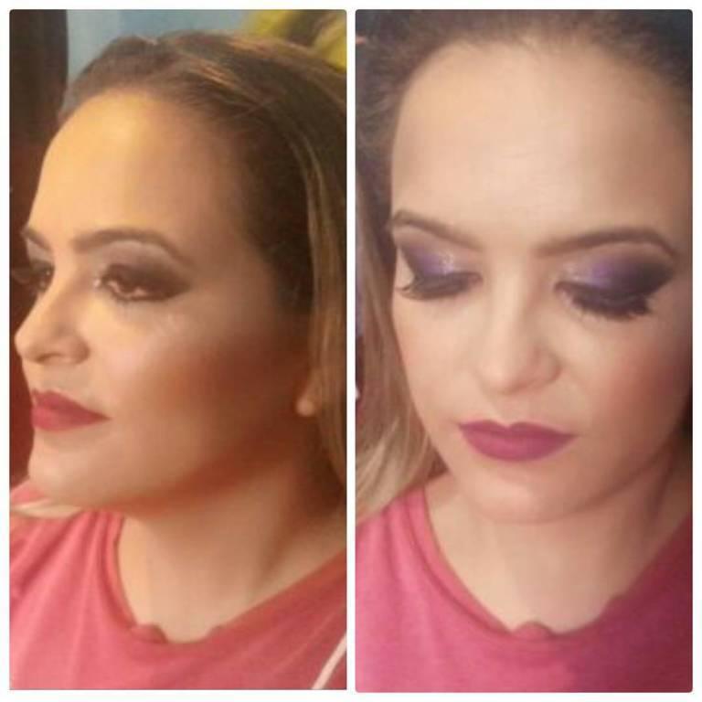 Make linda para noivas, madrinhas e formandas... Gostou? Agende seu horário 62 8510-6367  #maquiadoragoiania #Makeup #MAC #maquiagem #noiva #madrinha #olhotudo #pretodiagonal #makelinda #diva maquiador(a)