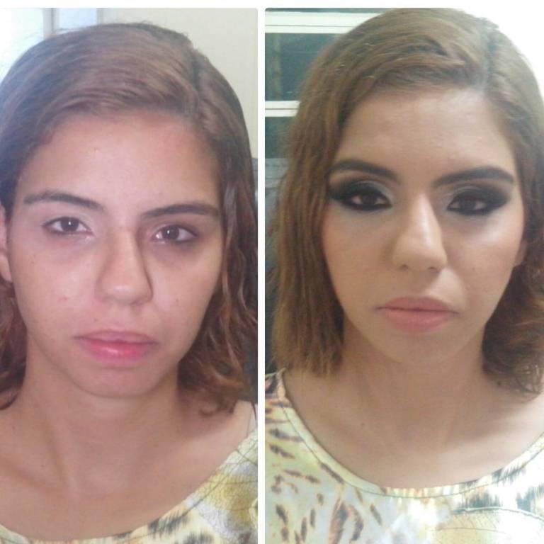 Antes x Depois... Linda nè?  #antesedepois #transformação #make #diva #revlon #Naked maquiador(a)