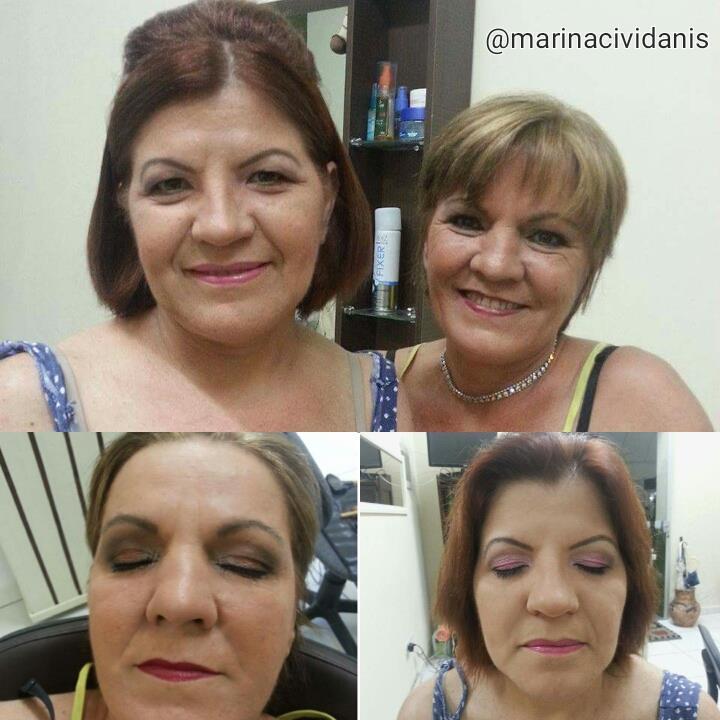 Clientes lindas ❤ arrasaram 💄 💋  #makeupbymarinacividanis #maquiagembrasill #formatura #clientesatisfeita #aguasdesaopedro maquiagem maquiador(a)