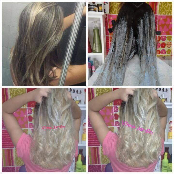 Técnica da mao livre #BlondorClub #BlondHair #TecnicaDaMaoLivre #LoiroSaudavel #Velvet #LeCharme