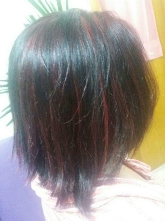 Mechas vermelhas cabeleireiro(a) manicure e pedicure