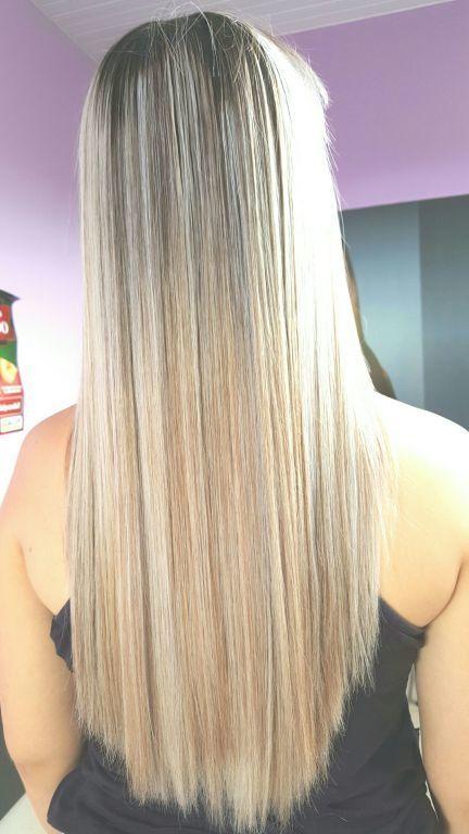 Mechas Loiro perola cabelo cabeleireiro(a) designer de sobrancelhas estudante (depiladora) maquiador(a)