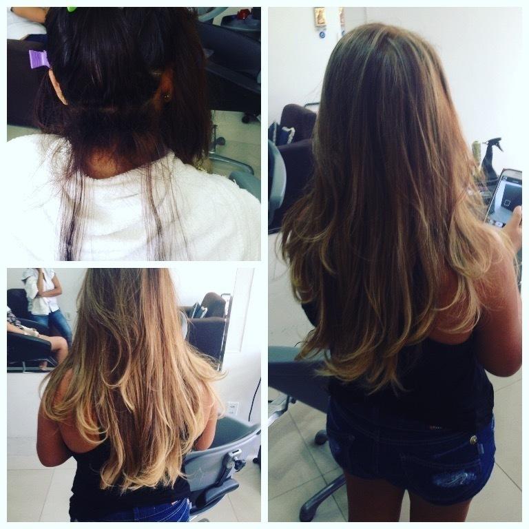 Transformação do vermelho para o loiro cabeleireiro(a) depilador(a) maquiador(a)