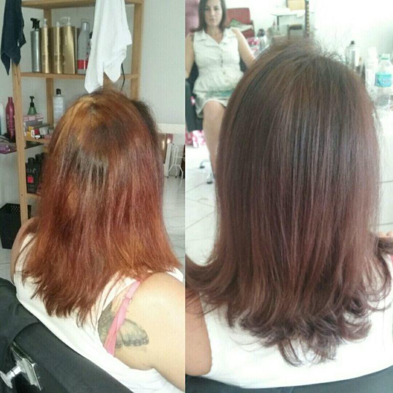 Antes e depois repigmentação do cabelo descolorir em casa pela cliente. cabelo estética maquiagem cabeleireiro(a) distribuidor(a) outros