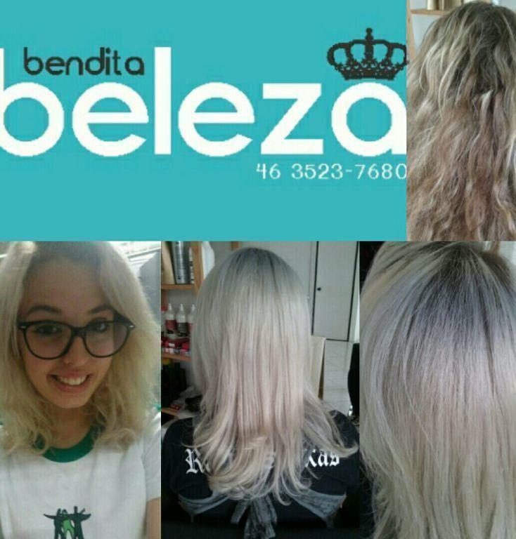 Platinado antes durante e hoje cabelo maquiagem unha estética outros cabeleireiro(a) distribuidor(a) outros
