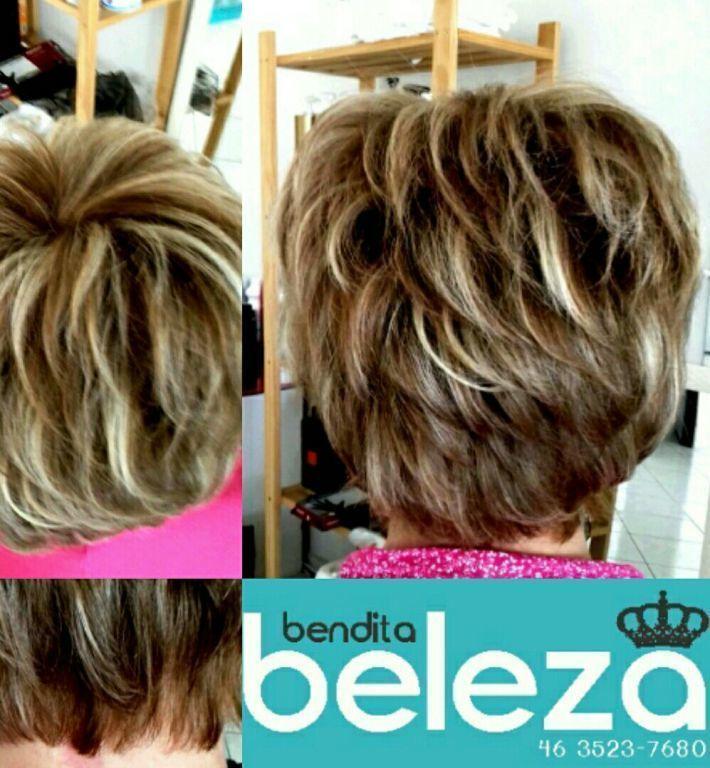 Mechas Claras e escuras  e corte com navalha cabelo maquiagem unha estética outros cabeleireiro(a) distribuidor(a) outros
