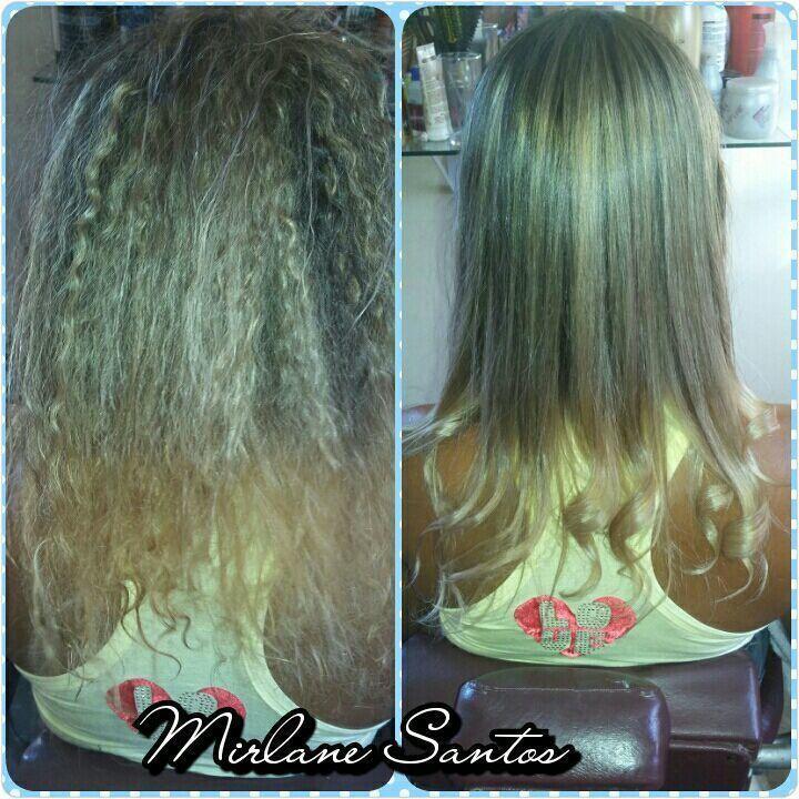 Ombre hair com mechas e selagem cabelo cabeleireiro(a) designer de sobrancelhas depilador(a) manicure e pedicure maquiador(a)