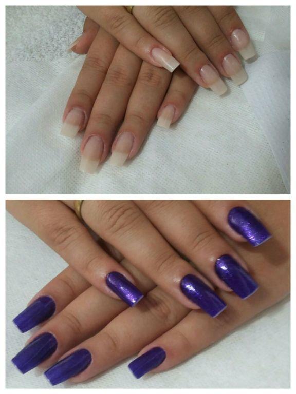 Unhas de fibra de vidro unha manicure e pedicure maquiador(a) designer de sobrancelhas