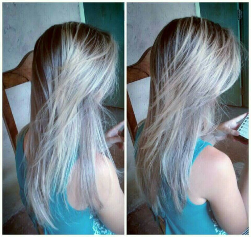 Fluid hair platinado.💕 cabelo cabeleireiro(a)