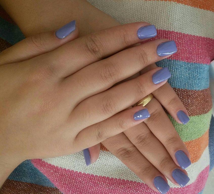 Lilás lindo..  😍 #Risque #amei #unhas  💅💅💅💅 unha manicure e pedicure depilador(a)