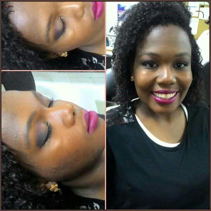 Make básica , Pele negra . #aula  #básico #Pelenegra #negra maquiagem maquiador(a)