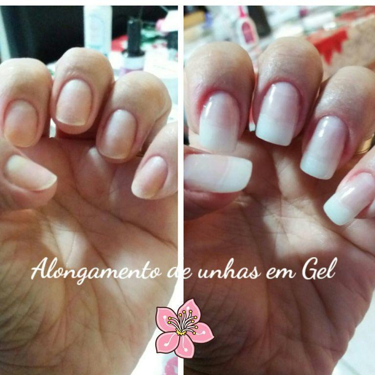 Alongamento de Unhas em Gel unha manicure e pedicure