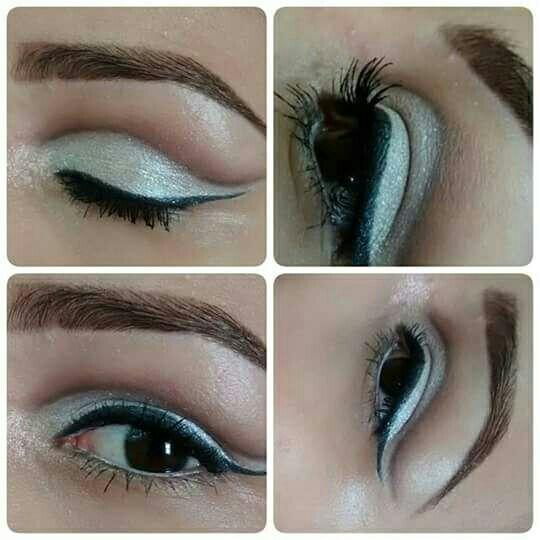 Cut crease aberto #makeup maquiagem estudante (maquiador)