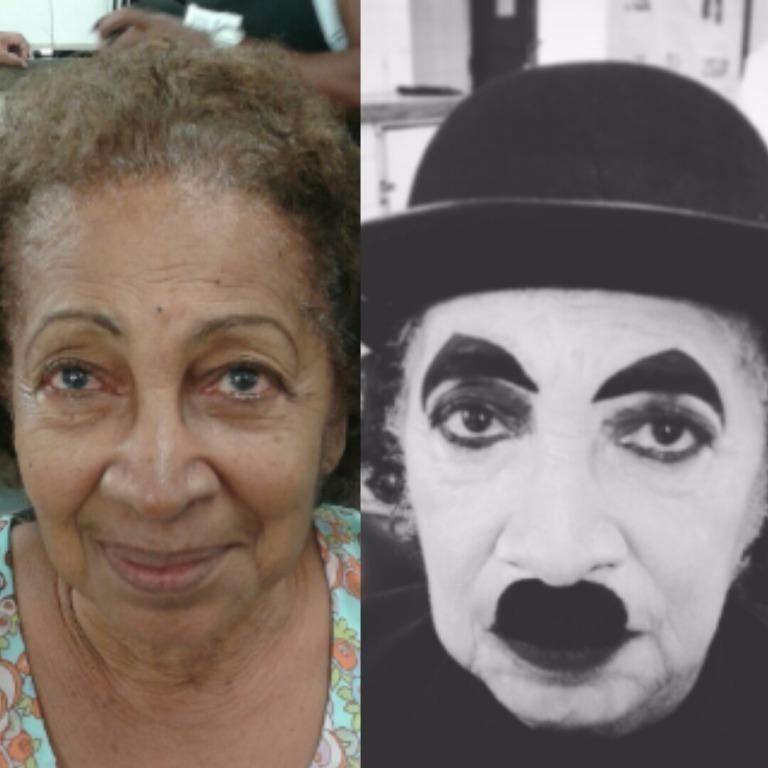 make artistica  caracterização charle chaplin auxiliar cabeleireiro(a) maquiador(a)