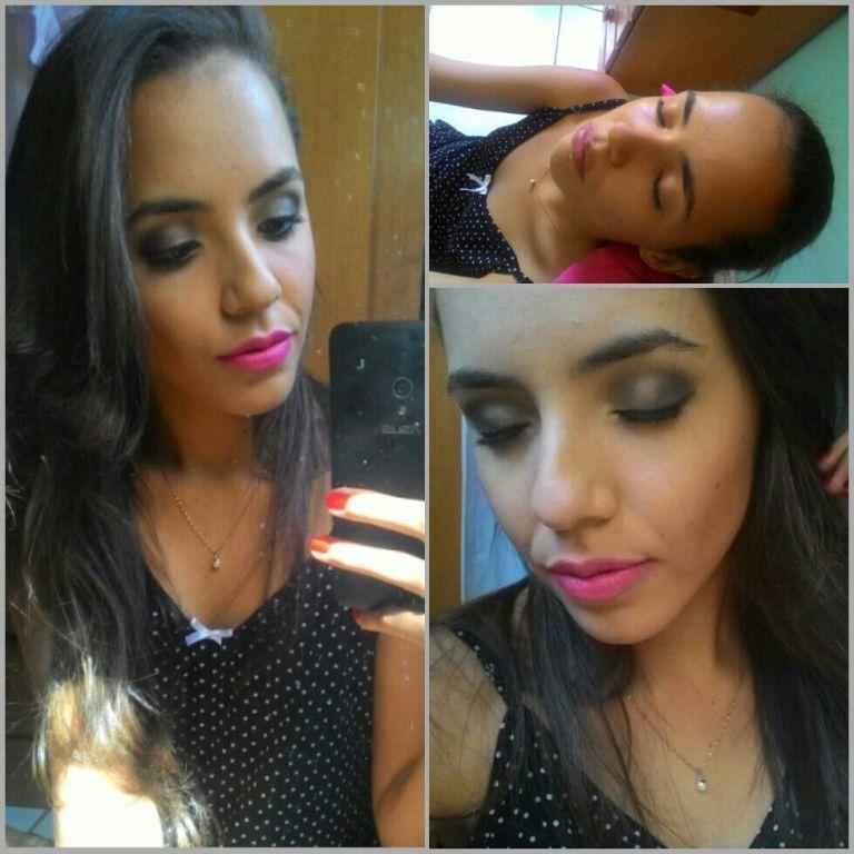Ainda sobre os trabalhos de hoje ! #batomrosa #esfumadocinzachumbo #paletathebalm maquiagem maquiador(a)