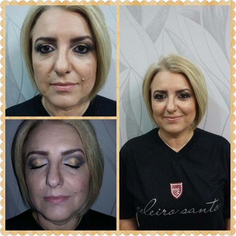 estudante (maquiador) designer de sobrancelhas