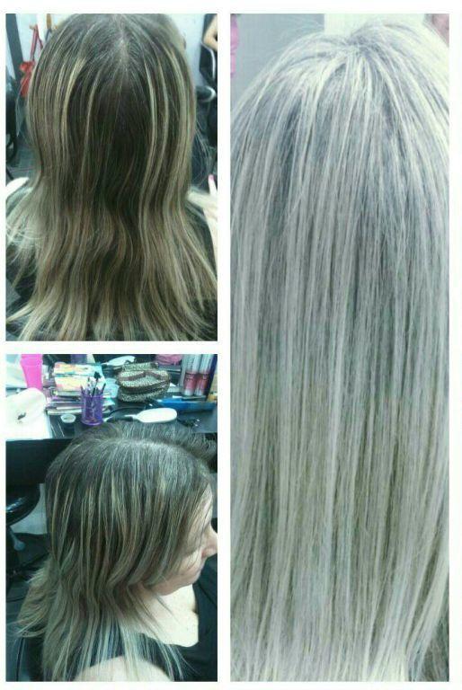 Retoque de luzes.....  Platinado cabelo cabeleireiro(a)