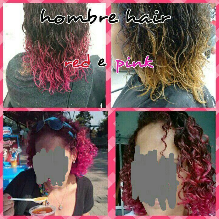 Hombre hair red e pink cabelo cabeleireiro(a)