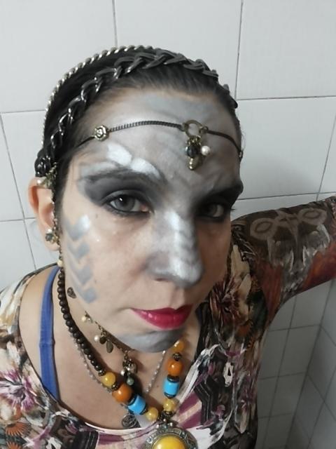 Apresentação de dança Tribal Fusion, World Dragon Day Brazil - Sao Paulo; outubro/2015 terapeuta docente / professor(a) massoterapeuta massagista aromaterapeuta estudante (maquiador) assistente maquiador(a)