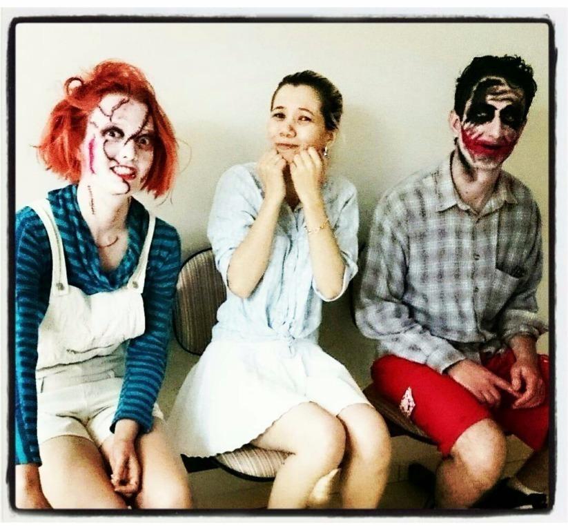 Criadora e Criaturas! Hahaha...  #make #makeup #halloween #coringa #chuck #goodjob #job #arthistic cabeleireiro(a) esteticista depilador(a) cosmetólogo(a) maquiador(a) stylist / visagista manicure e pedicure auxiliar administrativo