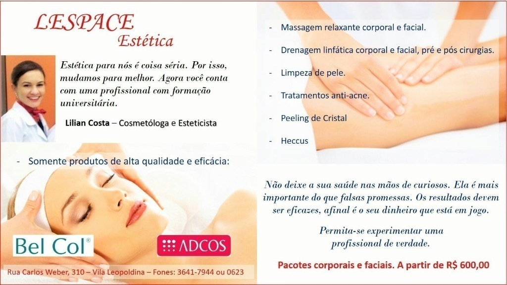 esteticista cosmetólogo(a) depilador(a) designer de sobrancelhas