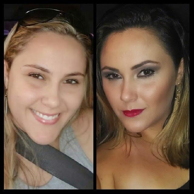 Maquiagem para Festa Antes e Depois #maquiagem #maquiadora  #maquilage m#maquiadoraprofissional #makeup #make #foto #fotografia #photo #fotografo #color #beauty #maquiagemparafesta #maquiagemfesta cabeleireiro(a) maquiador(a) escovista designer de sobrancelhas depilador(a)