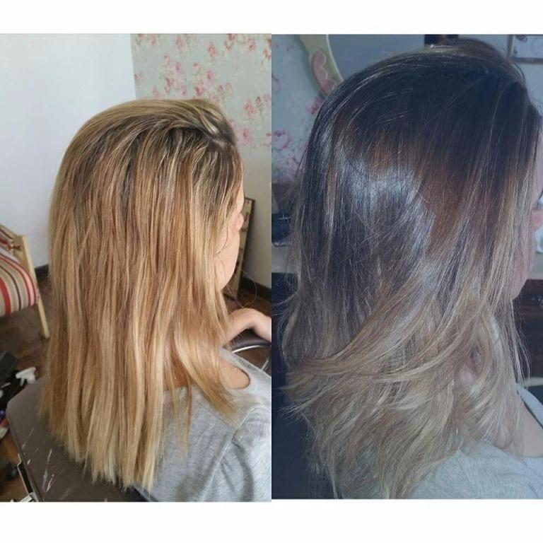 Do loiro laranja para o ombrehair cabeleireiro(a)