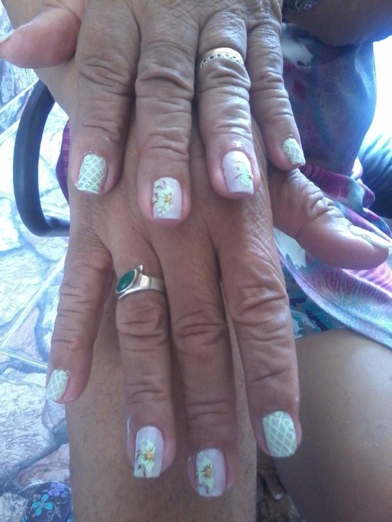 Decoração com adesivos artesanais manicure e pedicure