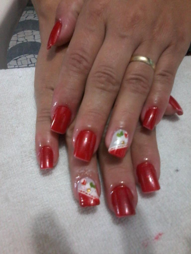 Postiças decoradas com adesivos unha manicure e pedicure