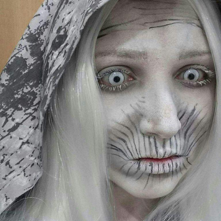 Make inspirada no White Walker de Game of Thrones maquiagem estudante (cabeleireiro) estudante (maquiador)