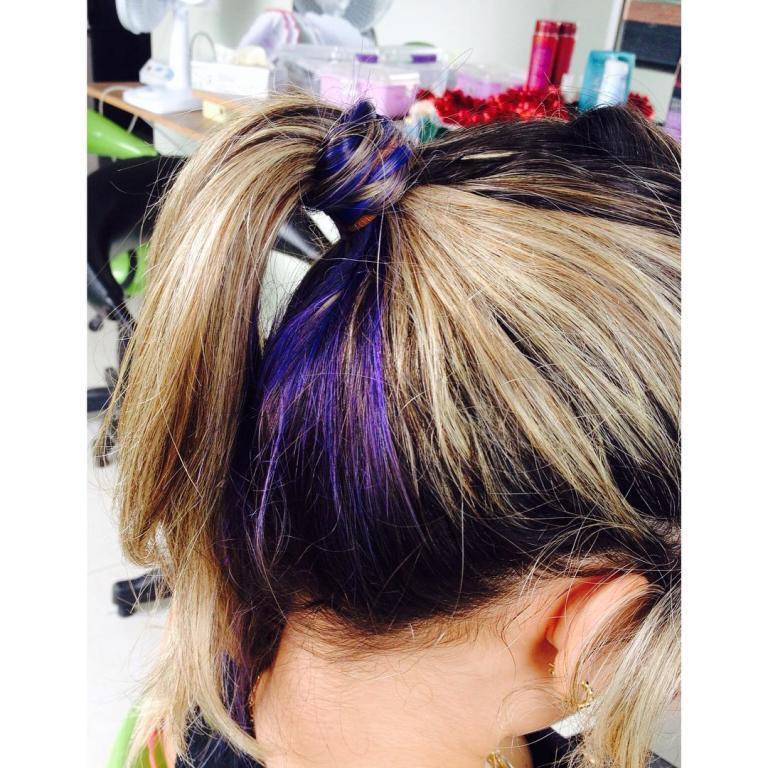 #mecha #roxa  cabeleireiro(a)