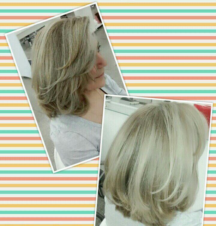 Luzes perolada! cabelo cabeleireiro(a) designer de sobrancelhas maquiador(a)