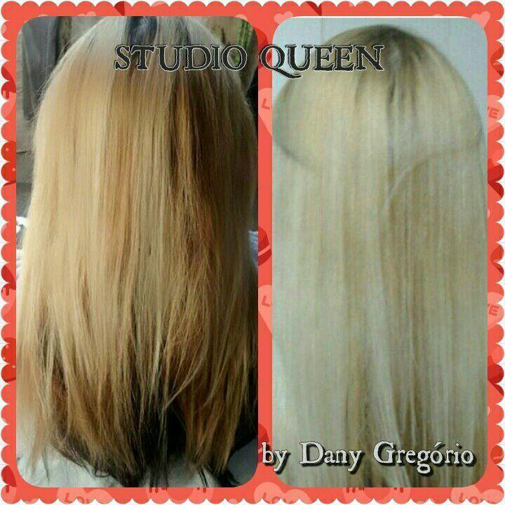 Antes depois, corrigindo a cor! cabelo cabeleireiro(a) designer de sobrancelhas maquiador(a)
