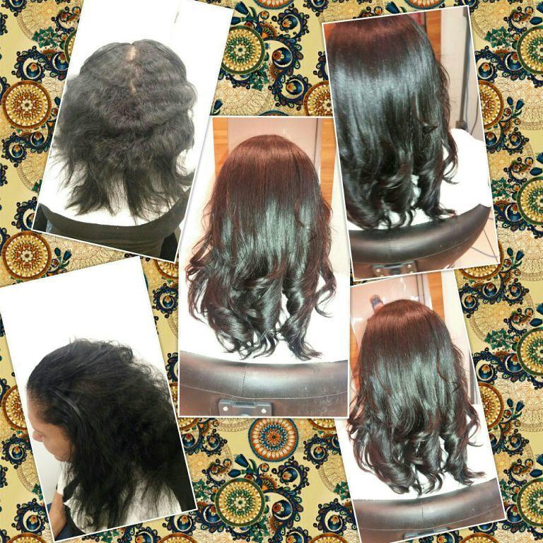 Antes e depois, progressiva sem formol. cabeleireiro(a)