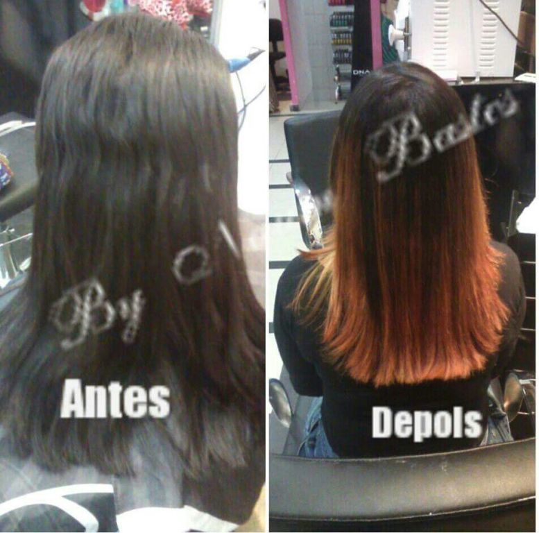 Ombre hair ruivo cabelo cabeleireiro(a)