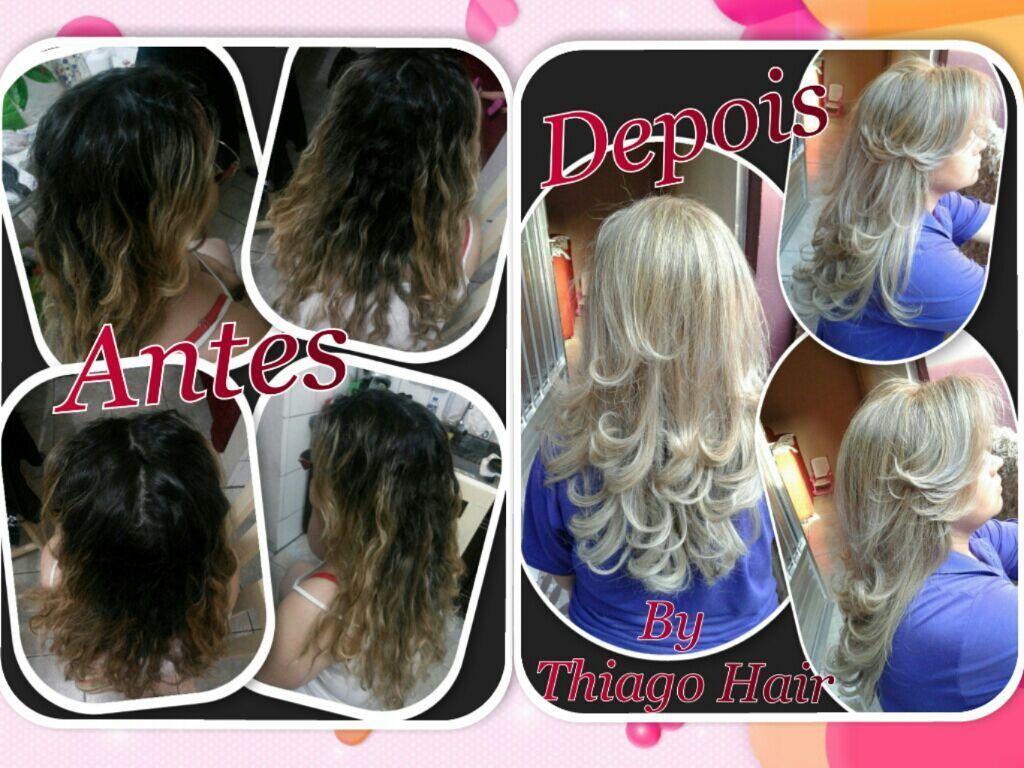Reflexos,  neutralização, totalização, reconstrução, corte em camadas com base arredondada e escova modelada. cabelo cabeleireiro(a) maquiador(a)