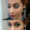 Maquiagem conceitual com olhos gráficos e assimétricos #delineado #metálico #assimétrico #liceudemaquiagem