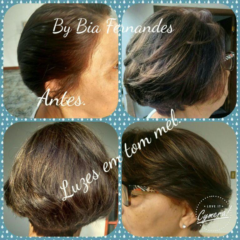 Coloração e mechas discretas tom mel by Bia Fernandes cabelo micropigmentador(a) designer de sobrancelhas outros auxiliar cabeleireiro(a) dermopigmentador(a) estudante (depiladora)