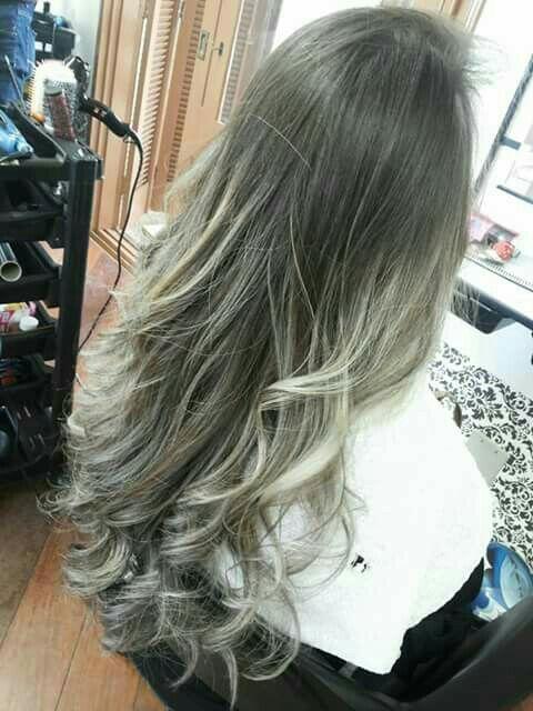 Ombré hair platinado cabelo cabeleireiro(a)